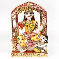Goddess Baglamukhi marble idol