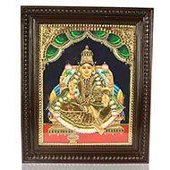 Goddess Dhana Lakshmi Tanjore Painting