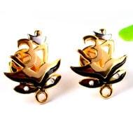 Gold Plated Durga Netra Earrings