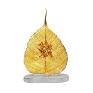 Gold Plated Maa Durga on a Peepal Leaf