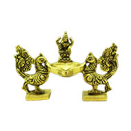 Golden Peacock diya