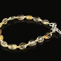 Citrine oval beads bracelet