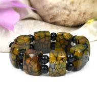 Green Agate bracelet - Design II