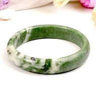 Green Jade Bangle - VIII