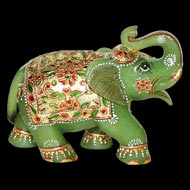 Green Jade Elephant - 1025 gms