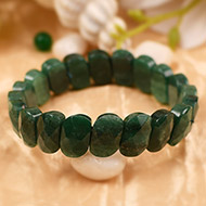 Green Jade Faceted Bracelet - II