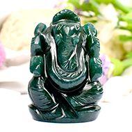 Green Jade Ganesha - 79 gms