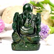 Green Jade Ganesha - 81 gms