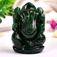 Green Jade Ganesha - 86 gms - I