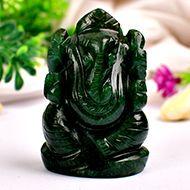 Green Jade Ganesha - 86 gms - II