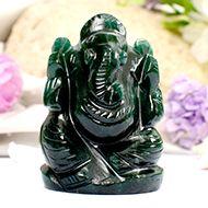 Green Jade Ganesha - 86 gms - III