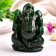 Green Jade Ganesha - 86 gms