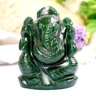 Green Jade Ganesha - 88 gms - II