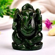 Green Jade Ganesha - 88 gms - III