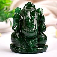 Green Jade Ganesha - 88 gms