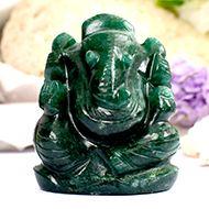 Green Jade Ganesha - 90 gms - II
