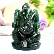 Green Jade Ganesha - 91 gms - I