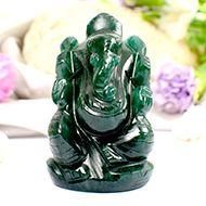 Green Jade Ganesha - 91 gms - II