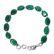 Green Onyx Oval Bracelet - 8mm - Design III