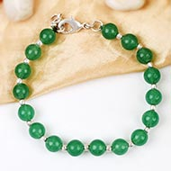 Green Jade Round bracelet - 8mm