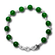 Green Onyx Round Bracelet