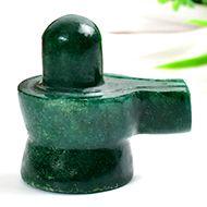 Green Jade Shivlinga - 120 gms