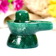 Green Jade Shivlinga - 33 gms