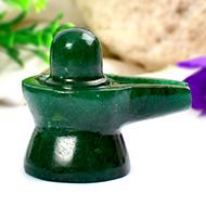 Green Jade Shivlinga - 46 gms