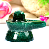 Green Jade Shivlinga - 52 gms