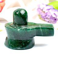 Green Jade Shivlinga - 60 gms - I