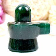 Green Jade Shivlinga - 61 gms