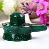 Green Jade Shivlinga - 71 gms - I