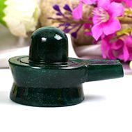 Green Jade Shivlinga - 73 gms - II