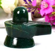 Green Jade Shivlinga - 73 gms - III