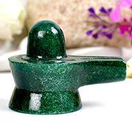 Green Jade Shivlinga - 74 gms