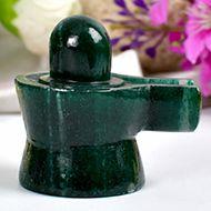 Green Jade Shivlinga - 77 gms