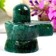 Green Jade Shivlinga - 78 gms - I