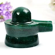 Green Jade Shivlinga - 92 gms