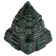 Green Jade Shree Yantra - 100 to 110 gms
