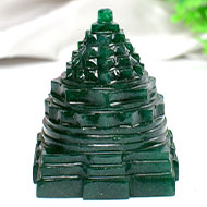 Green Jade Shree Yantra - 174 gms
