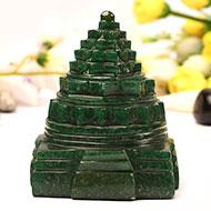 Green Jade shree Yantra - 411 gms