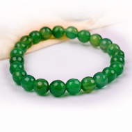 Green Onyx Faceted Bracelet