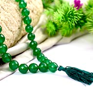 Green Onyx Mala - faceted