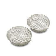 Haldi Kum Kum Containers in pure silver - Design II
