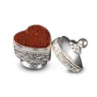 Haldi Kumkum Container in Pure Silver