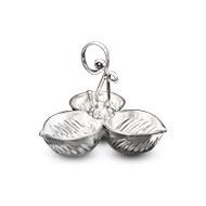 Haldi Kumkum containers in Pure Silver