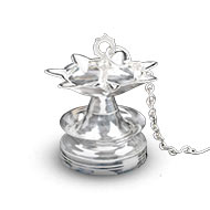 Hanging Diya in Pure Silver