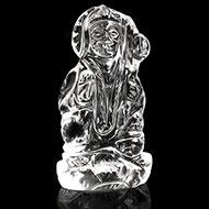 Hanuman crystal statue - 38 gms