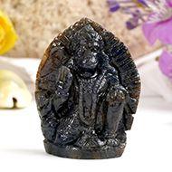 Hanuman in Blue Sapphire - 190.60 carat