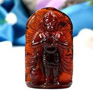 Hanuman in Gomedh - 140 carats